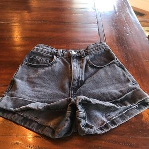 American apparel black jean shorts NWOT size 24